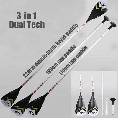 DUAL-TECH Sport Alu Alloy Vario Sup Paddle SUP Peddel Stand up Paddel Stehpaddel