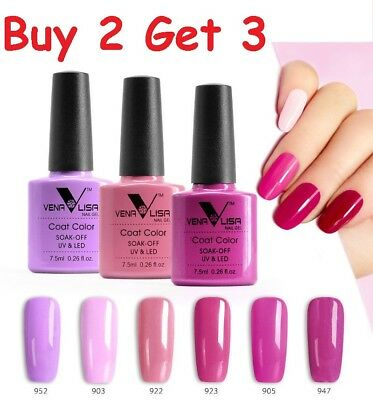 Venalisa Nail Lacquer Gel Polish Canni Pink Series No Acid Soak Off UV LED Bond