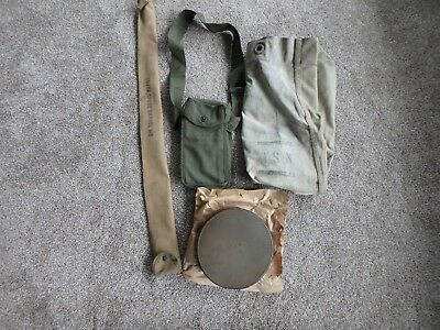 Lot Of Militaria, M8 Barrel Cover,wwii Sea Bag,ammo Case,leather Barrel Cover