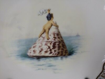 MINTON CUPID & SHELLS CHERUB PLATE SHIP AHOY Limited Edition Antonin Boullemier