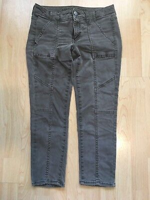 American Eagle Outfitters Olive Gray Jegging Crop Super Stretch 2
