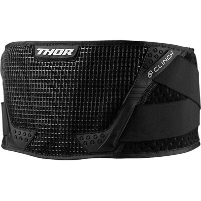 New 2019 Thor Mx Black + White Youth Kids Clinch Kidney Belt Protection Size S/m