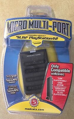 MAD CATZ 4 Player Multi tap Port PlayStation 1 & 2 Memory Card Reader PS2 New
