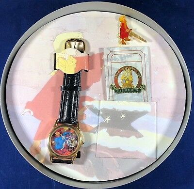 RARE!! Disney's The Sword In The Stone Watch.  In Movie Real, With Bonus Pin.