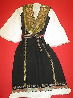 Collectible  Bulgarian Handmade Folk Traditional Female Costume Selvage Shirt