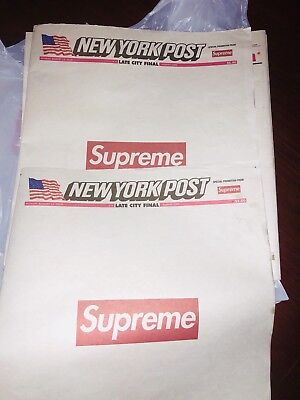 Supreme New York Post Newspaper NY Full Paper  Ready To Ship