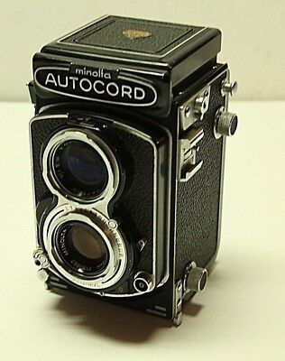 Vintage MINOLTA Autocord camera ex condition