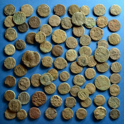 Lot of 80 Uncleaned Roman Bronze Coins