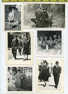 (29) Vintage photo lot / Womens HATS Fashion Designs Style OLD SNAPSHOTS 1915-60