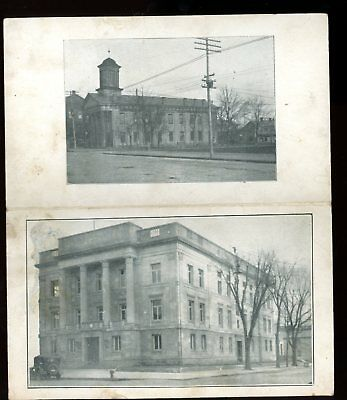 Ohio-Newspaper-The Logan Republican-Old & New Buildings-about 1925