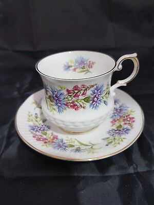 Queens Rosina Cup Saucer, Wildflowers