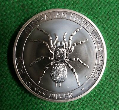 2015 Australian Funnel Web Spider Silver Bullion 1oz Coin