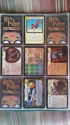 Harry Potter trading card set mint condition, several rare holographic cards
