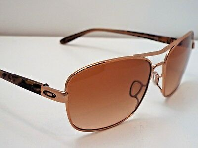 Authentic Oakley OO4116-01 Sanctuary Rose Gold Vr50 Brown Grdnt Sunglasses $200