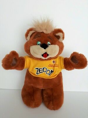 Zellers Mascot Zeddy Bear Canadian Red Cross Edition 15 inches