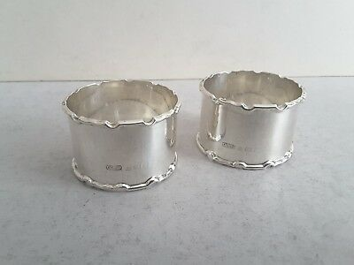 Nice Pair Vintage Solid Silver Napkin Rings.        56.4Gms.         Birm. 1937.