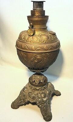 ANTIQUE VICTORIAN BRASS OIL LAMP ~ Eurika Lamp Made in USA!