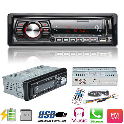 12V Car Radio Player Car Audio Auto Stereo 1 Din FM Receiver MP3 Remote Control