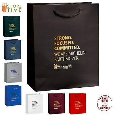"Custom Gloss Laminated Euro Tote Bag  8"" x 10"" x 4"" Foil Stamp with your Logo"