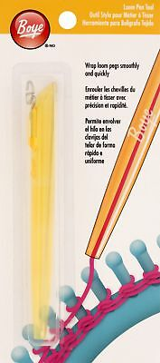 Simplicity Boye Loom Pen Tool - Yellow - Easy Wrap Loom Pegs - Crafts Knitting