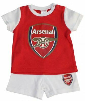 Arsenal FC Baby Toddler Kit T-Shirt and Shorts Pyjama Set | 2018/19 Season
