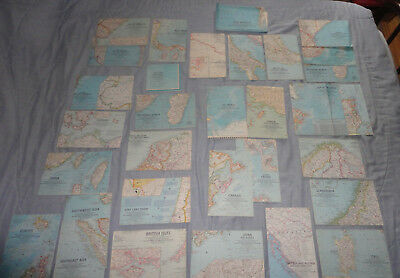 31 1960s National Geographic Fold Out Country Maps From Around The World