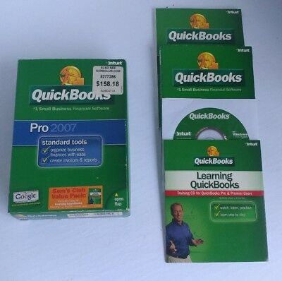 Intuit QUICKBOOKS PRO 2007 (windows version) with CD and Quick Start Booklets