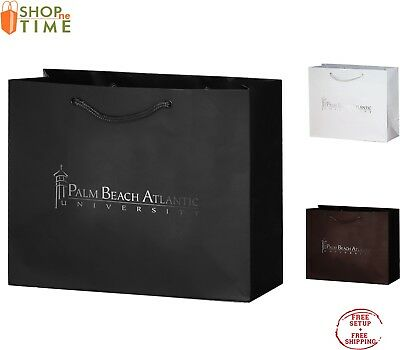 "Custom Matte Laminated Euro Tote Bag  9"" x 7"" x 3.5"" Foil Stamp with your Logo"