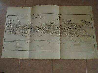 """Antique Map, """"Map of the Caledonian Canal"""" or Navigation between the Eastern..."""