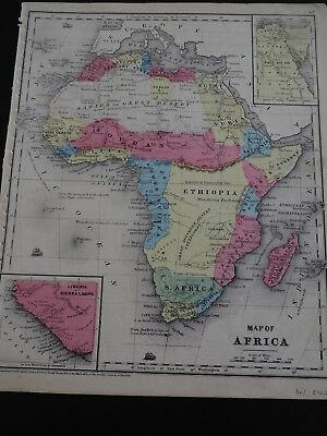 "Antique Map, ""Map of Africa"" Daniel Burgess, 1854"