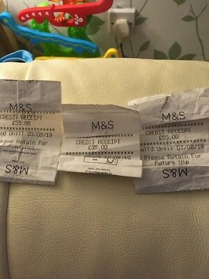 Marks And Spencers Credit Vouchers £145