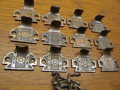 Large Lot Brass ? Bronze ? Window Sash Lifts ...appothecary Drawer Pulls..ornate
