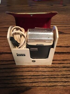 Vintage Ronson 200 Men's Shaver With Case and Power Cord. Still Turns On!!