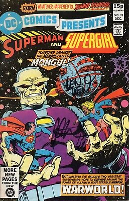 Dc Comics Presents #28 Superman & Supergirl - Multi Signed Wein Starlin & More!!