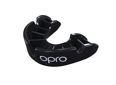 OPRO Mouth Guard Gen4 Bronze Series Adult Self Fit Black Gum Shield Boxing Rugby