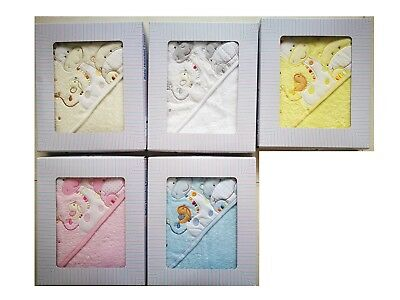 [50%OFF!]  Baby Hooded 100% Cotton Towel set  Boxed-Giraffe