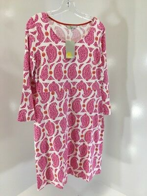 02981dc77ad Boden Women's Miriam Paisley Jersey Tunic Dress Pink/white Uk14/us10 Nwt