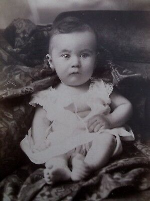 Cabinet Card Precious Baby Boy Open Dress Upside Down Printing Columbus OH