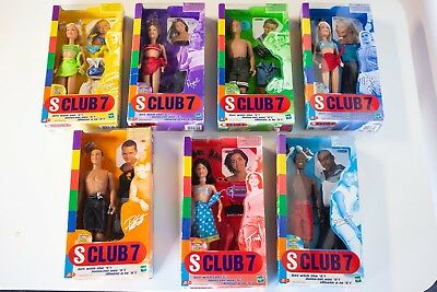 """Hasbro 2000 S Club 7 COMPLETE SET Dolls """"Get With the 'S"""" in Sealed Boxes"""