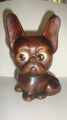 Rare antique OSWALD BLACK FOREST ROTATING EYES DOG CLOCK