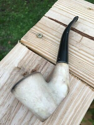 Unknown Hand Carved Rock Poker Pipe Estate Pipe Americana