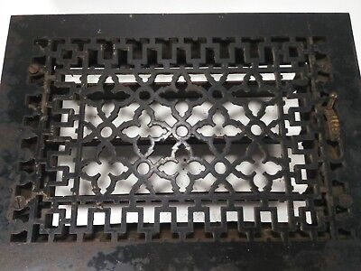 Beautiful Antique Tuttle & Bailey Mfg Co Black Cast Iron Heating Grate