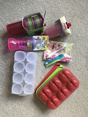 Baby Feeding Bundle - bottles, supply cups, spoons, purée freeze containers