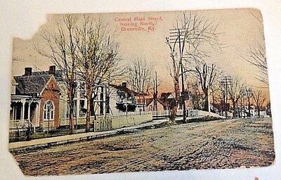 Rare to find GREENVILLE Kentucky Central Main Street Looking North Postcard.