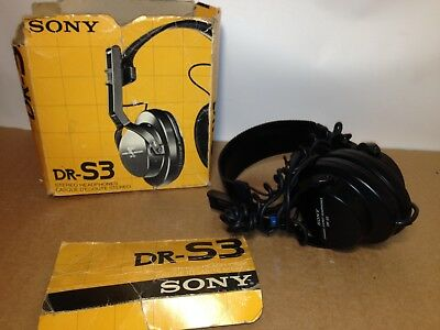 A pair of very rare old / vintage Sony DR-S3 headphones