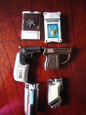 Vintage, Lot of 6 used cigarette Lighters, Price Reduced
