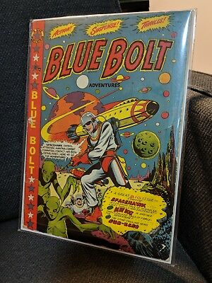 👨🚀Blue Bolt 106 classic cover by L.B Cole!! Classic cover VG not cgc 🚀