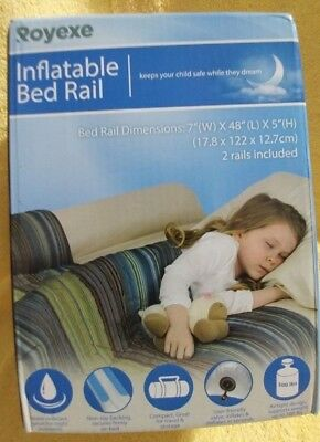 """Royexe Inflatable Bed Safety Rails 48"""" x 7"""" x 5"""" Pack of 2 rails"""