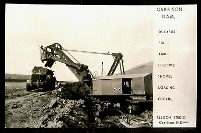 RPPC Bucyrus 6-Yard ELECTRIC SHOVEL, Steam, GARRISON DAM, ND North Dakota N.D.