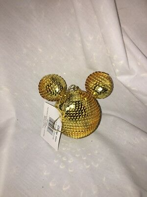 Mickey Mouse Gold Disco Ball Ornament